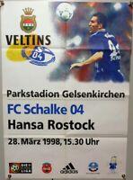 Offizielles Spielplakat + 28.03.1998 + BL + FC Schalke 04 vs. Hansa Rostock #12