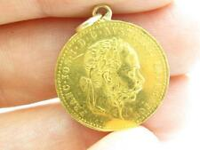 24k Yellow Gold Franc.IOS.I.D.G. Avstriae Imperator Austria Gold Coin Necklace