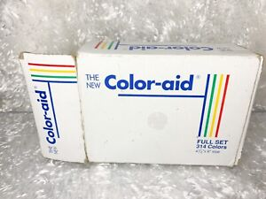 Vintage Color Aid 202 Coordinated Colors 4.5 x 9 Artist Paper Swatch Set As Is