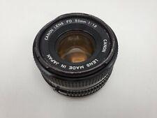 Canon FD 50mm F1.8 Prime Lens for AE-1 Program A-1 F-1 SLR Cameras *READ*