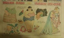 Brenda Starr Sunday with Large Uncut Paper Dolls from 5/17/1942 Full Size Page