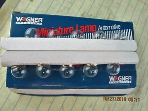 (10) 1445 Wagner Instrument Miniature Bayonet Clear Bulb 12 Volts [B5S3]