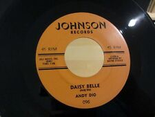 Rockabilly 45 ANDY DIO Daisy Belle / Rough And Bold JOHNSON 096 VG++/NM-