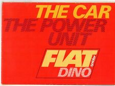 Fiat Dino Spider 2000 1968-69 UK Market Sales Brochure