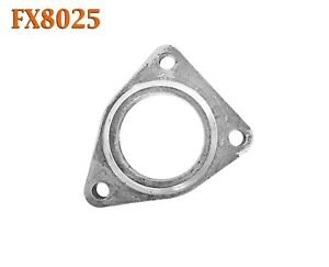 """FX8025 Left Driver Side Direct Fit Triangle Exhaust Flange w/ Gasket 2 1/2"""" 2.5"""""""