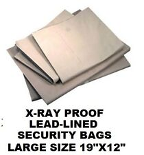 "TWO 19""X12"" LEAD-LINED CAMERA FILM X-RAY PROOF SECURITY BAG airport TSA subway"