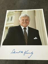 EDWARD Ted KENNEDY - original Autogramm Autograph auf Großfoto - US Senator