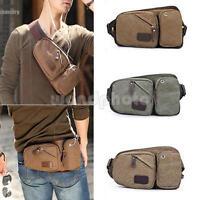 Mens Canvas Sport Bum Bag Casual Fanny Pack Waist Bags Hiking Belt Bag Hip Purse