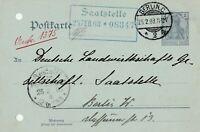 Postkarte Jahr 1903 gelaufen in Berlin Saatstelle