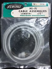VINTAGE VERITAS HI-FI CABLE ASSEMBLIES V-368 PRECISION ENGINEERED NEW IN PACKAGE