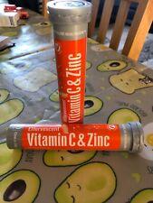 X2 20 vitamin C& Zinc Effervesent /revitalise Healthcare + Immune Heath