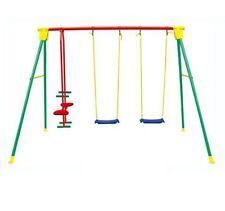 Altalena kiko 4 in metallo gioco per bambini da3 a 10 anni gioco esterno