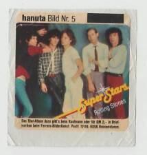1983 German Pop Star Sticker Hanuta Super Stars #5 Rolling Stones Jagger Richard