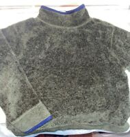 Boys LL BEAN Mock Neck SHERPA FLEECE Pullover Sweatshirt Jacket Size S 8 NICE!
