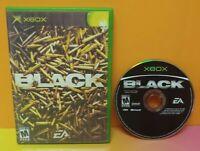 BLACK  - Microsoft XBOX OG Game - Tested + Works  - EA Shooter Gun Shooting