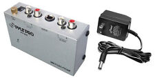 New Pyle Pp444 Ultra Compact Phono Turntable Preamp Converts Phono to Line Level