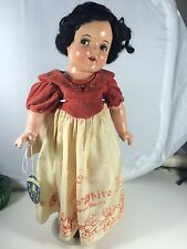 "RARE! ANTIQUE COMPOSITION IDEAL 18"" SNOW WHITE DOLL FLIRTY EYES!"