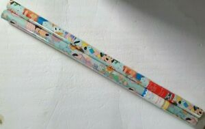 VTG  Roll Hallmark Disney Mickey Minnie Donald Gift Wrap Wrapping Paper Lot of 2