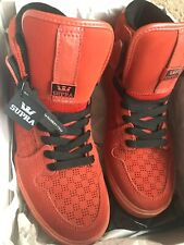 Supra Shoes Justin Bieber VAIDER Orange  Sz 9 Free Shipping Limited Edition