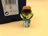 SWAROVSKI Figurine Pot De Fleur 5 Cm. avec Emballage Et