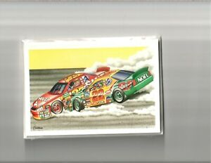 Christmas Cards Nascar Sports Car Racing Santa Elf Wreck