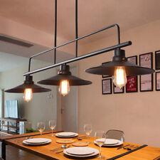 Vintage Chandelier Lighting Kitchen Ceiling Lights Bar Large Black Pendant Light