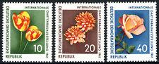 Germany DDR/GDR 565-567, MNH. Flowers: Tulip, Dahila, Rose, 1961
