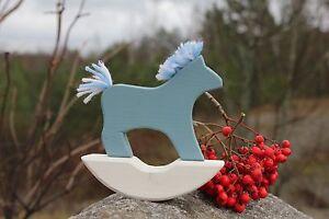 Swedish Dala Horse Rocking Wood Hand Made Dalahemslojd Sweden