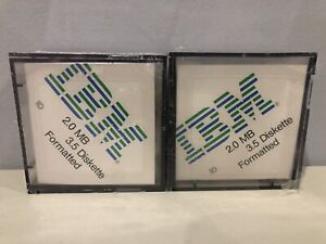 2 Packs of 10 Each, IBM 2.0 MB 3.5 Diskettes Formatted, Both New Sealed