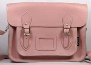 Beautiful Unused in Bag Hand Made Leather Satchel by Zatchels ~ Salmon Pink
