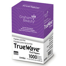 """Graham TrueWave End Paper Hair Perm Styling Dispense 1000 Papers Jumbo 4"""" x 2.5"""""""