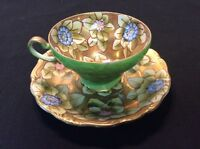 Trimont China Hand painted Tea Cup and Saucer Occupied Japan