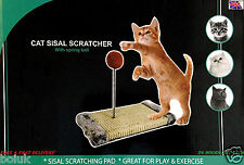 Cat Play Post Scratch Activity Pole Centre Climbing Sisal Scratcher Toy Ball