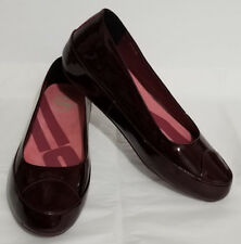 FitFlop Due Ballerina Pump Shoes EUR 42  US 10  UK 8  Hot Cherry Patent Leather