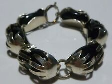 """MEXICO MEXICAN DESIGNER SIGNED STERLING SILVER ONYX 7.25"""" BRACELET"""