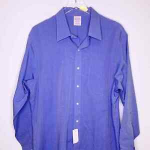 Brooks Brothers Button Down Shirt New Size 18.5 Custom Tailored Cotton Workwear