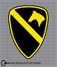 1st Cav Cavalry Division US Army American flag sticker decal