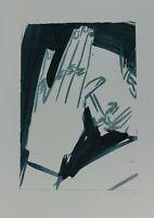 Bernhard Johannes Blume Hand Lithografie Griffelkunst 1985 Handsigniert