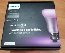 Philips Hue White and Color 2nd Gen A19 Starter Kit 3 Bulbs Plus Bridge New