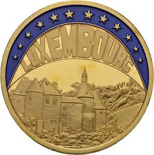 EUROPE ECU SERIES LUXEMBOURG LUXEMBURG GILDED PROOF LIKE GILT MEDAL 1998 #ME212