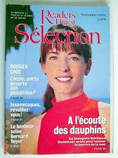 SÉLECTION DU READER'S DIGEST DE NOVEMBRE 2000, EN COUVERTURE À L'ÉCOUTE DAUPHIN