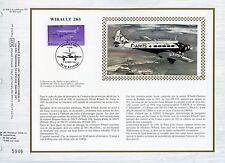 FEUILLET CEF / DOCUMENT PHILATELIQUE / AVIATION / WIBAULT / LE BOURGET 1986