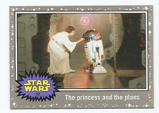 2016 STAR WARS JOURNEY TO THE FORCE AWAKENS SILVER BORDER #22 PRINCESS AND PLANS