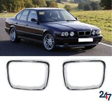 NEU BMW 5 SERIE E34 1994 - 1995 Fronthaube Niere Gitter Rand chrom Paar Set