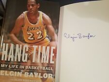 Hang Time My Life in Basketball SIGNED by Elgin Baylor HC AUTOGRAPHED NBA AUTO