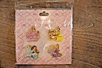 Disney Pins Princess Booster Set Belle Ariel Aurora Rapunzel  NEW FREE SHIPPING