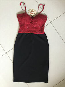 Cameo Rose Ladies/Girls Red & Black Pencil Dress Size 10 BNWT