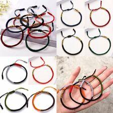 Vintage Tibetan Buddhist Love Lucky Charm Bracelet Bangle Knot Rope Couple Gift