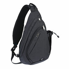 "Mixi Sling Chest Bag Crossbody Messenger Bag Sports Riding Travel Bag 19"" Black"