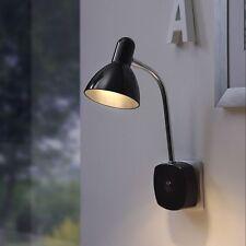 LED Wandlampe Spot Leselampe Lampe Wand Steckerleuchte P14 B-Ware, schwarz